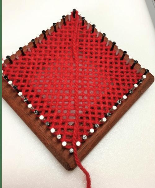 Final row of weaving