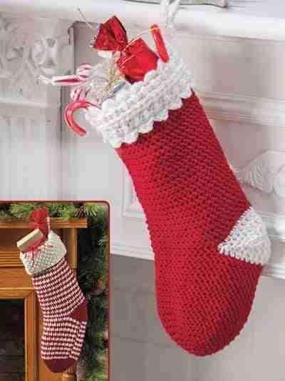Cuffed Crochet Christmas Stockings
