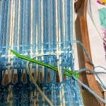 Rigid Heddle Loom Weaving Tips Step 7 at the beginning of the weaving