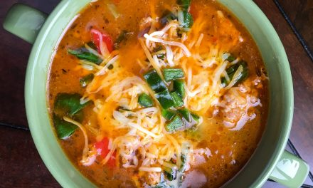 Delicious Sausage Soup with Peppers and Spinach is #1