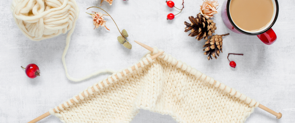 finding time to craft knitting image